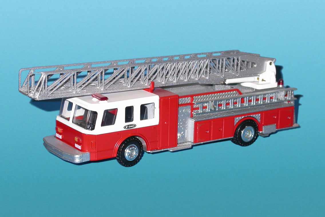 Conrad: Emergency One - Hush Fire Ladder (5506 (1988)) in 1:50 scale